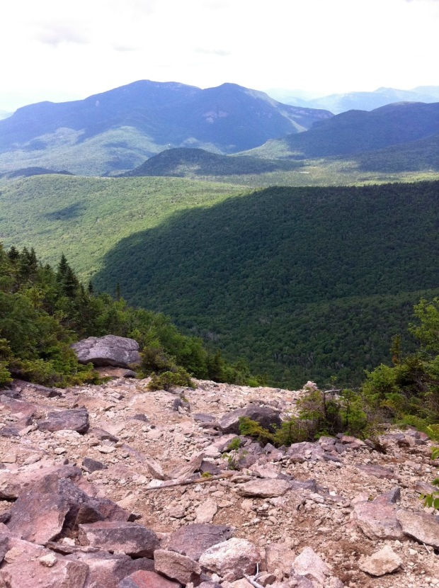 View from the top of the Rock Slide at Tripyramid